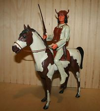 Marx Vintage Johnny West Geronimo w/ Gear & Stormcloud Horse Best of the West