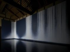 Hiroshi Senju - The Garden of Kū, 2009 & The Falls, 2006. Installed in a 100 year old restored home at the Benesse Art Site on Naoshima Island.