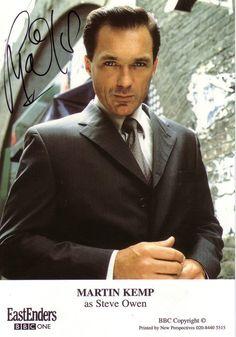 Born: October 1961 ~ Martin Kemp played Steven Owen is EastEnders. Eastenders Cast, Martin Kemp, Hollyoaks, Soap Stars, Tv Soap, New Romantics, Bbc One, Coronation Street, Famous People