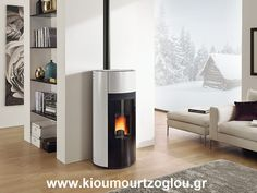 The La Nordica Doroty Pellet Stove is highly efficient, clean burning and has automatic control with all the warmth and comfort of wood heating. With a - output range, the La Nordica Doroty pellet stove provides beautiful warmth and is suitab Pellet Fireplace, Pellet Stove, Modern Fireplace, Fireplaces, Boiler Stoves, Stoves Cookers, Modern Ranch, Living Room Decor, Sweet Home