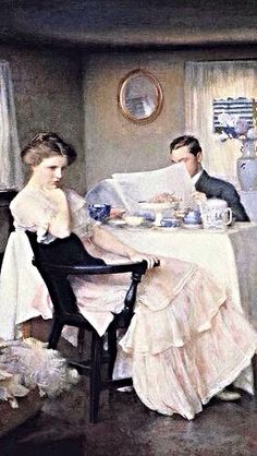 Breakfast, 1911 (detail) // By William McGregor Paxton (American, 1869-1941)