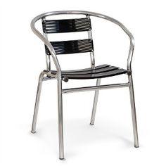 Cadeira De Alumínio Master Pintado Preto