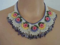 Crochet craft necklace
