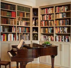 Library with piano