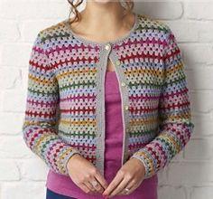 Simply crochet good vintage cardigan by Fran Morgan
