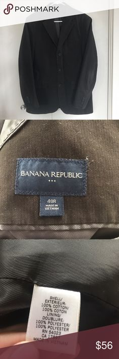 Men's Dark Brown Banana Republic Blazer Men's Dark Brown Banana Republic Blazer. The blazer has been worn only a few times and is in great condition. It is traditional fit. Banana Republic Suits & Blazers Sport Coats & Blazers