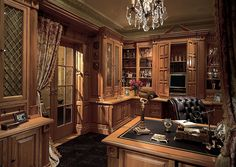 Beeee-u-t-ful!! :)  -db  || ZILLOW DIGS - Carpet, Traditional, French, Built-in bookshelves/cabinets, Chandelier