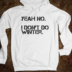 I Don't Do Winter! I need this but with a crew neck off the shoulder sweater
