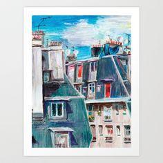 Paris, Ordener Str. Art Print by Tatiana Ivchenkova - $16.12