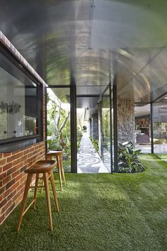 Outdoor & Indoor; Walker House by Maynard Architects