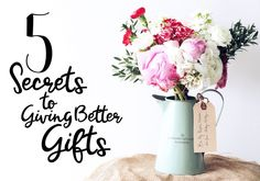 A few easy steps to giving thoughtful and meaningful gifts   The Lilou Blog & Online Shop