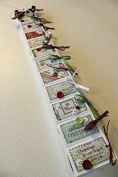 Match box advent calendar idea
