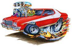 Madd Dogg's Muscle Car Art | Details about Starsky & Hutch Zebra 3 Muscle Car Cartoon Tshirt