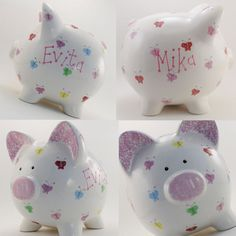 D.I.Y: Personalize your Piggy Bank.. Buy a plain one and paint on your designs!!..Pennies add up to Bills $$$ !!..=)