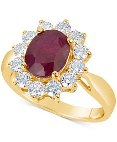 Ruby (2-1/5 ct. t.w.) and Diamond (1 ct. t.w.) Ring in 14k Gold