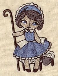 Nursery Rhymes - Little Bo Peep | Urban Threads: Unique and Awesome Embroidery Designs