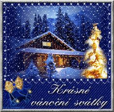 vánoční přání - přáníčka 015 Christmas Scenery, Christmas Images, Christmas And New Year, Christmas Ornaments, Holiday Decor, Winter, European Countries, Czech Republic, Home Decor