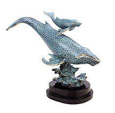 Moderne Bronzeskulptur - Blauwalmutter mit Kind - signiert Milo - limitiert - Tierfiguren online kaufen - Wal Skulptur - Bronzefigur: Amazon.de: Küche & Haushalt
