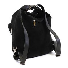 Suede Leather Messenger Bag Black Backpack Suede Leather