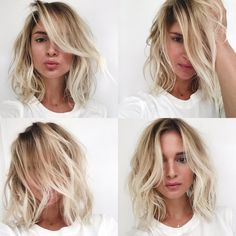 Beach hair / balayage / soft ombre / LOB / Long bob. Via Mija