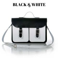 old school bags Black & White