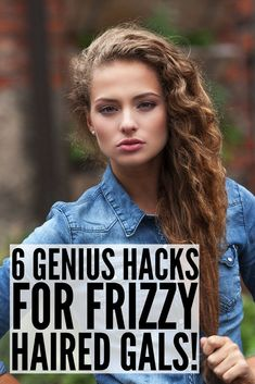 These tips, products, and remedies, tell how to get rid of frizz once and for all. These DIY hair hacks work best with hair that's neither straight nor curly, and will teach you how to tame your locks when rain and humidity strikes. Thick Frizzy Hair, Frizzy Hair Tips, Thin Hair, Straight Hair, Frizzy Hair Remedies, Diy Hair Hacks, Curly Hair Hacks, Poofy Hair, Hair Care Tips