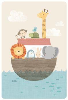 Animales dentro de un barco