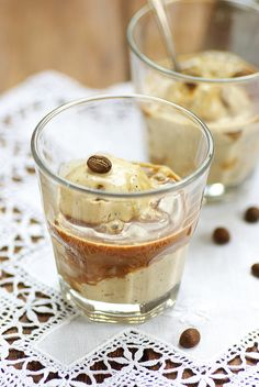 Coffee ice cream - Affogato al caffè #sweetmoka