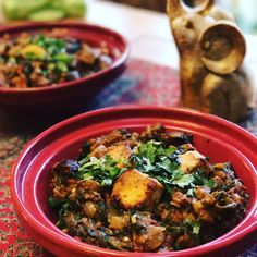 NEW RECIPE ~ Tofu Tikka Masala with Mushroom and Spinach  Blending what is essentially two recipes into one, the result is the most delicious and mouthwatering dish, deep in flavour and rich in texture.  http://www.theveganhousehold.com/mains/tofu-tikka-masala-with-mushroom-and-spinach/