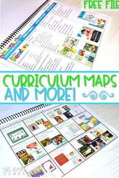 curriculum map for kindergarten and first grade