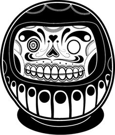 Jonathan Koshi is the creative force behind these pop culture icons in Day of the Dead fashion. So great. Check out his website for more.