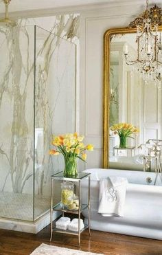 duşakabinde mermer