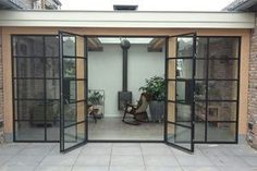 , Jeltsje Reitsma - Frugality - # - While historical in idea, the pergola may be suffering from somewhat of a modern-day renaissance these kind of days. An attractive backyard refuge without. Pergola Patio, Backyard Patio, House Extension Design, Garden Studio, House Extensions, Garden Office, Patio Doors, Patio Design, House Tours