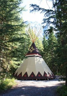 Coolest places to go glamping in Canada: In stunning Kananaskis, Alberta, you can rent a traditional Sioux canvas teepee at Sundance Lodges.