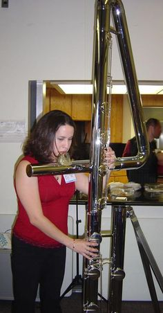 Double contrabass flute -  I can't imagine the sound from that thing.  Like a pipe organ?