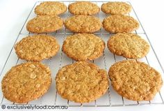 This recipe produces thin, chewy biscuits. If you would prefer softer, thicker biscuits, please see our other Anzac biscuit recipe . Chewy Anzac Biscuits Recipe, Biscuit Recipe, Biscuit Cookies, Aussie Food, Australian Food, Australian English, Pastry Recipes, Baking Recipes, Brownie Recipes