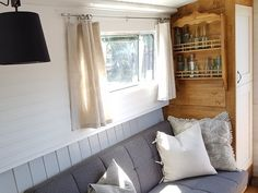 The Boutique Narrowboat – Lesley Ann Sleeps 2 This canal boat is one-of-a-kind. She contains all the modern luxuries you would expect from a boutique holiday escape and is designed with couples in mind. Canal Boat Hire, Canal Boat Interior, Narrowboat Interiors, Converted Bus, Narrow Boat, Boat House, Cities In Europe, Japanese Interior, Boat Design