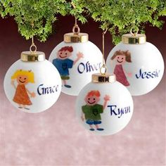 kids customized christmas ornaments with name on front and date on back kids christmas ornaments - Christmas Decorations Names