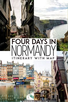 Planning your trip to Normandy France? Your travel guide for Normandy France, including 4 day itinerary for Normandy, including the best places to visit in Normandy. This Normandy road trip includes the best things to do in Normandy and the best cities/towns to visit in Normandy, including Honfleur, Etretat, Omaha Beach, Rouen, the Normandy cider trail, and staying in a chateau in Normandy. #Normandy #France #travel #Europe #WWII