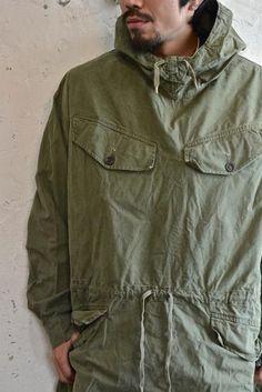 【1960`s フランス軍 コットン アノラック オリーブドラブ】 - 山形、仙台のヨーロッパ古着屋【SQUAT】のWEB SHOP