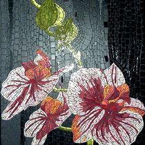 Orchidéa  110x60cm émaux de Briare Harmonie et Mazurka