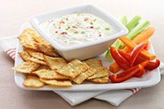 Bacon Ranch Dip recipe - try adding onion soup mix and some crushed garlic as well Kraft Recipes, Dip Recipes, Cooking Recipes, What's Cooking, Yummy Recipes, Healthy Recipes, Appetizer Dips, Appetizers For Party, Bacon Ranch Dip