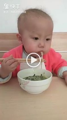 Animals Discover How to Use Chopsticks - delicious food cute baby baby fashion clothes eating tools dining table Cute Funny Babies Cute Asian Babies Funny Kids Cute Kids Funny Baby Memes Baby Humor How To Use Chopsticks Kids Chopsticks Cute Baby Videos Cute Asian Babies, Cute Funny Babies, Funny Kids, Cute Kids, Funny Baby Memes, Funny Jokes, Baby Humor, Funny Food, Kids Chopsticks