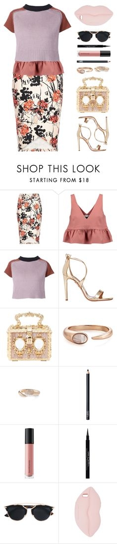 """""""*"""" by abigail-petion ❤ liked on Polyvore featuring River Island, Elizabeth and James, Marni, Aquazzura, Dolce&Gabbana, Larissa Bond, NARS Cosmetics, Bare Escentuals, Givenchy and Christian Dior"""