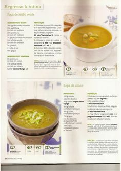 by Kemo Sabe - issuu Baby Food Recipes, Soup Recipes, Healthy Recipes, Food C, Portuguese Recipes, Happy Foods, Light Recipes, Cooking Tips, Veggies