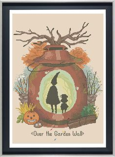 Over the Garden Wall Cross Stitch Halloween Pattern