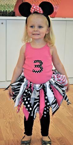 get crafty/ diy fabric tutu for minnie mouse birthday party!