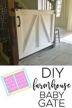The Collection of 1600 Woodworking Plans - - DIY Farmhouse Baby Gate or Pet Gate - Shanty 2 Chic Get A Lifetime Of Project Ideas and Inspiration! Woodworking Classes, Easy Woodworking Projects, Popular Woodworking, Woodworking Plans, Woodworking Shop, Woodworking Articles, Woodworking Chisels, Youtube Woodworking, Woodworking Patterns