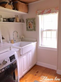 We completely gutted our laundry room down to the studs and started over with everything from the floor to the ceiling - Laundry Room Renovation On a Budget - Lehman Lane