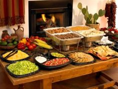 fajitas for buffet Fiesta Party, House Party, Party Food Bars, Nacho Bar, Party Buffet, Taco Bar Buffet, Mexican Party, Feeding A Crowd, Ideas Party